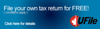 This is the button for UFile. File your own tax return for FREE!